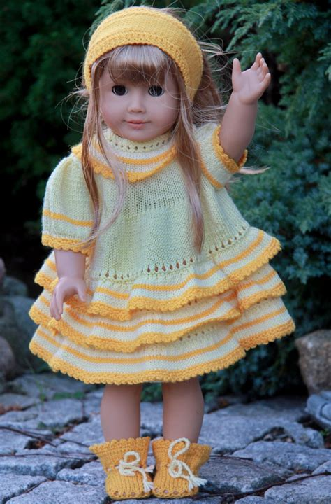 hair knitting patterns dollknittingpattern 0048d gulltopp gold top dress