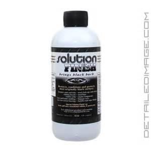 solution finish black trim restorer 12 oz free