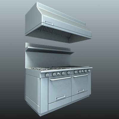 Commercial Kitchen Range commercial kitchen 3d model