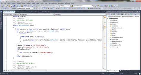 repository pattern with entity framework in mvc 4 repository pattern in mvc3 application with entity