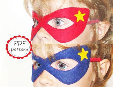 pattern for felt superhero mask item details