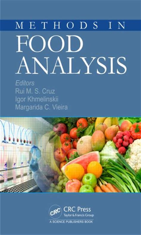 food analysis methods in food analysis crc press book