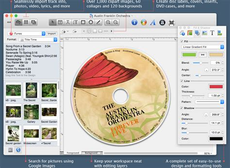 cd cover template for mac disc cover cd label maker for mac