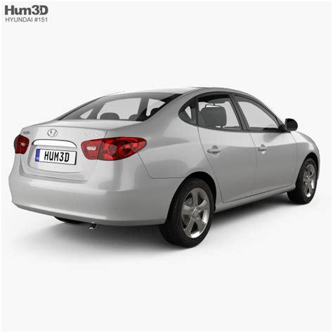 hyundai elantra models hyundai elantra hd 2007 3d model hum3d