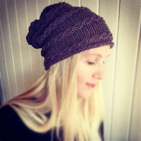 knitting beanie slouchy hat knitting patterns in the loop knitting