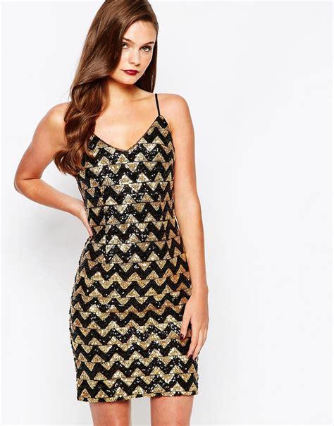 Neana Dress B02 By Zizara vestido de de lentejuelas zigzag de new look 02