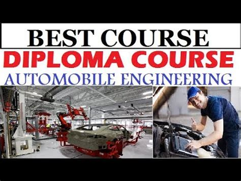 automobile engineering  diploma  iti   youtube