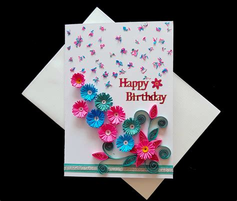 Handmade Happy Birthday - happy birthday handmade card