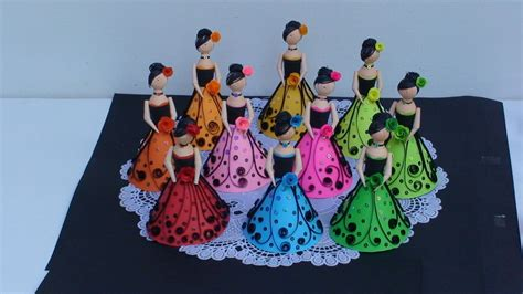How To Make A Paper Doll Step By Step - paper quilling dolls by inoka at coroflot