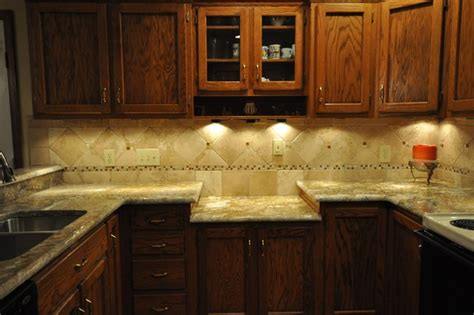 Kitchen Counter Backsplash Ideas Pictures Granite Countertops And Tile Backsplash Ideas Eclectic Kitchen Indianapolis By Supreme