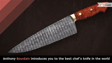 anthony bourdain introduces you to the best chef s knife in the world holy kaw