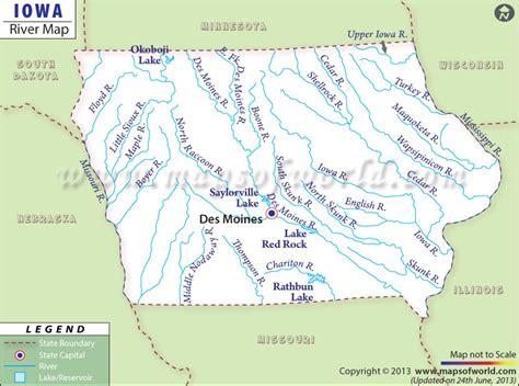 map of iowa rivers iowa images usseek