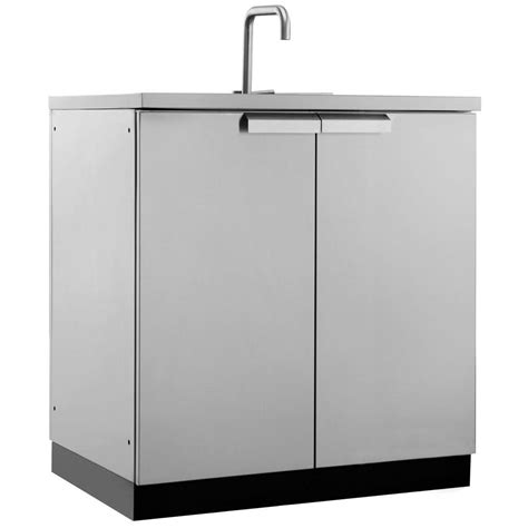 outdoor kitchen sink cabinet newage products stainless steel classic 32 in sink