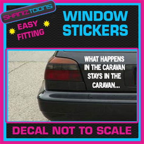 Wohnwagen Aufkleber Lustig by Caravan Funny Joke Car Window Vinyl Sticker Decal Graphics