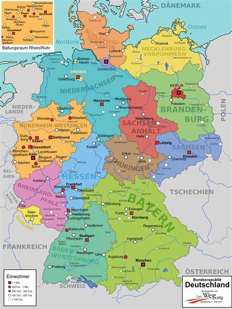 deutsche mappe deutschlandkarte der weg