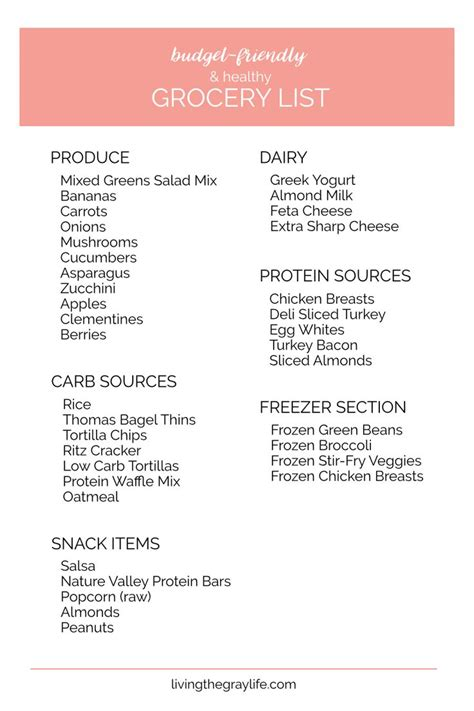 18 Budget Friendly Ways To Spice Up Your Relationship by Best 25 Healthy Grocery Lists Ideas On