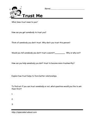 Relationship Skills Worksheets by 18 Best Images Of Social Boundaries Worksheet Printable