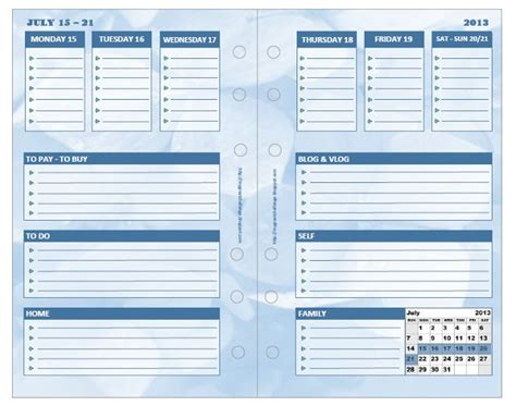 daily planner template publisher custom filofax diy inserts made with microsoft publisher