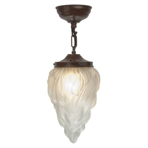 deco hanging ceiling pendant light with flambeau glass