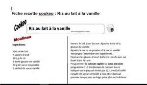 riz au lait 224 la vanille fiche recette cookeo recettes