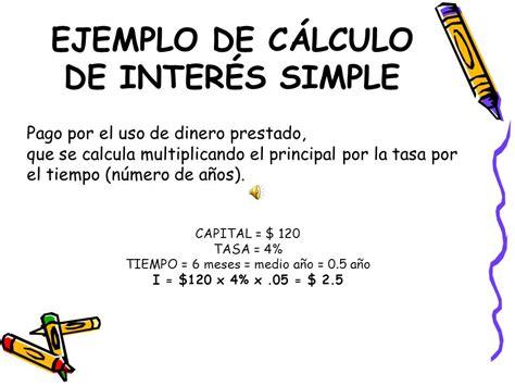 ejemplo de udf para el clculo de pago de impuesto a la renta de ejemplo de c 193 lculo de inter 201 s simple ppt video online
