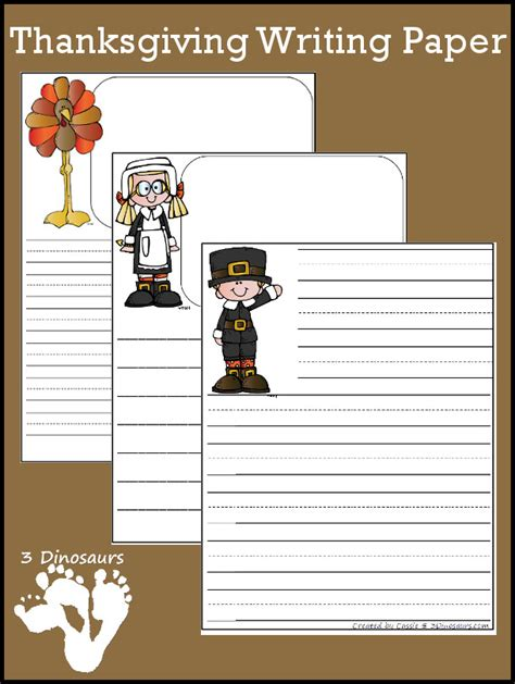 turkey writing paper free thanksgiving themed writing paper pack free