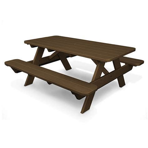 Park Tables by Polywood 72 Park Picnic Table Commercial Grade Outdoor