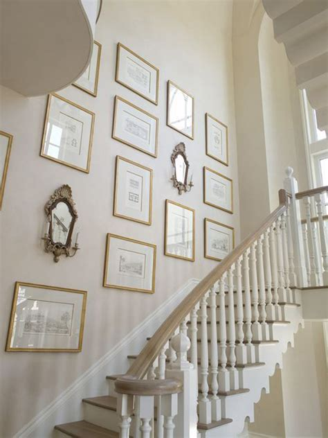 Staircase Wall Ideas Vintage Stair Gallery Wall Design