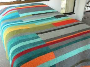 mid century modern quilt made to order mid century