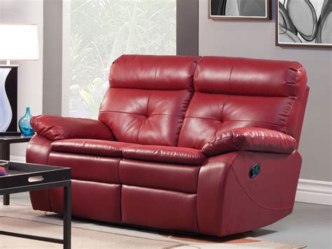 Red Sofa Recliner by Homelegance Wallace Reclining Sofa Set Red Bonded
