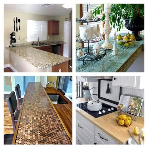 Diy Kitchen Countertops Ideas by 15 Thrifty Diy Countertop Ideas For The Home Pinterest
