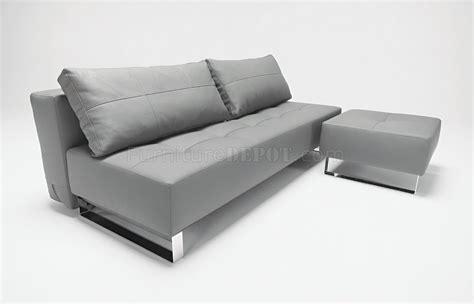 modern sofa chrome legs white or grey leatherette modern sofa sleeper w chrome legs