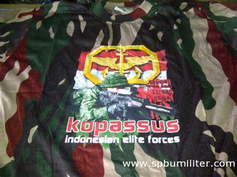 Jaket Loreng Kopasus Pom kaos kopassus spbu militer