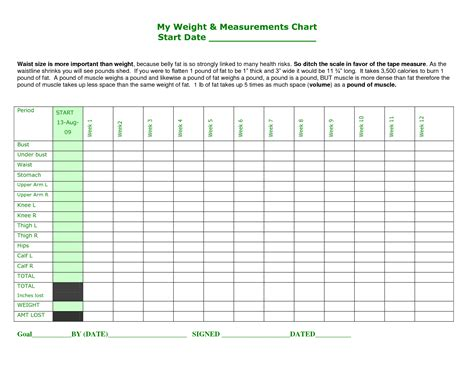 body measurement tracker pictures to pin on pinterest