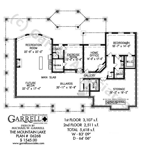 mountain homes floor plans mountain lake house plan house plans by garrell