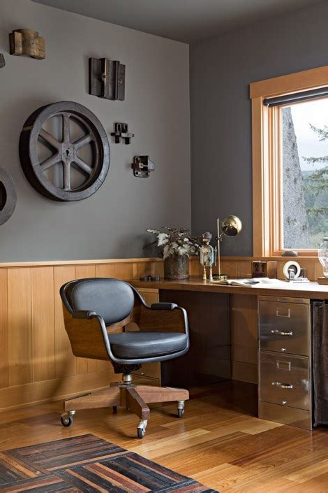 masculine office decor industrial style interior design man s guide for office decorating
