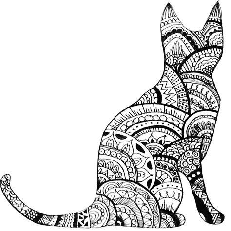 pattern cat drawing zentangle cat drawing by ayseart un interessante