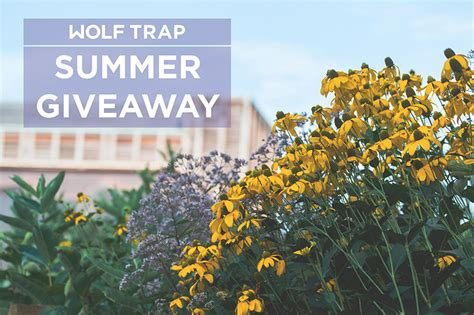 Contest Giveaway Rules - spring into summer giveaway contest rules wolf trap all access