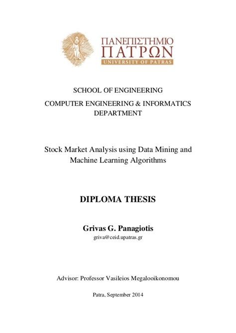 diploma thesis abstract exle diploma thesis abstract