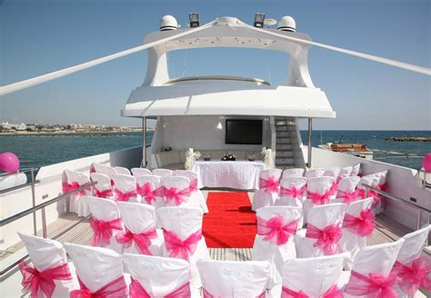 Wedding Ceremony On A Boat by Exclusive Yacht Weddings