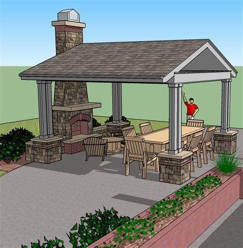 backyard gazebo plans gazebo with outdoor fireplace pictures to pin on pinterest