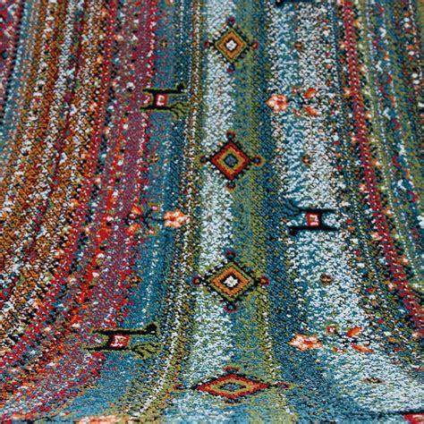 tappeto colorato tappeto soggiorno scandinavo design colorato nero animale
