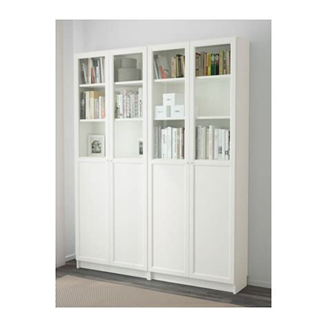 billy oxberg bookcase white 160x202x30 cm ikea