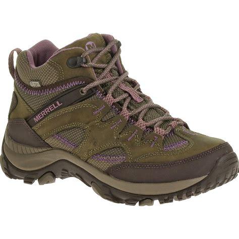 s merrell salida hiking boots waterproof mid