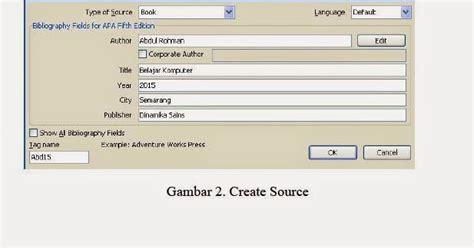 langkah membuat daftar pustaka dari internet cara membuat sumber dan daftar pustaka secara otomatis