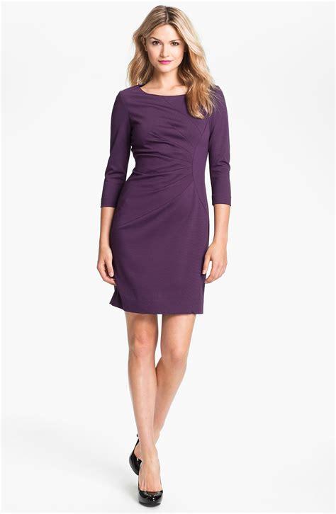 ponte knit dress tahari seam detail ponte knit sheath dress in purple
