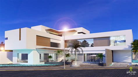 house modern onerender render time modern house