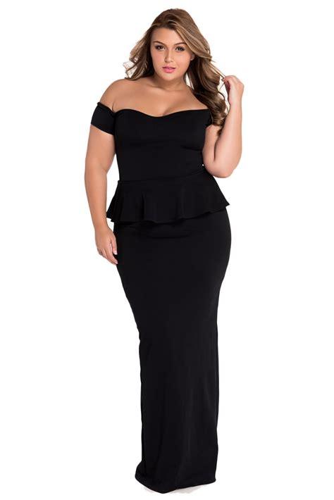 Nasjmi Flowery Peplum Maxi Dress black peplum evening dress with drop shoulder dl evening