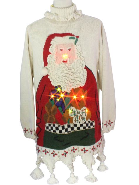guaranteed prize winning light up ugly christmas sweater