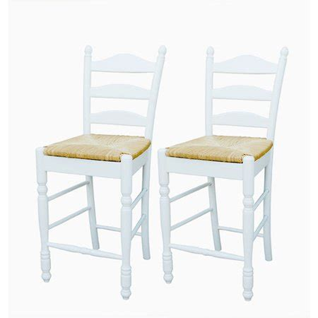 Ladder Back Counter Stools With Seats by Ladder Back Seat Counter Stools 24 Quot Set Of 2